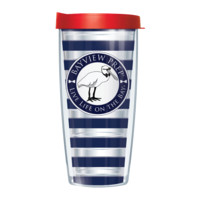 Navy and Red Tumbler Cup