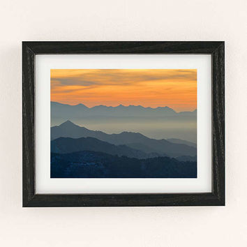 Guido Montanes Sunset Mountains Art Print | Urban Outfitters