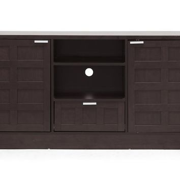 Baxton Studio Tosato Brown Modern TV Stand and Media Cabinet Set of