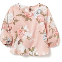Floral Long-Sleeve Top