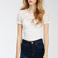 Baroque-Embroidered Crop Top
