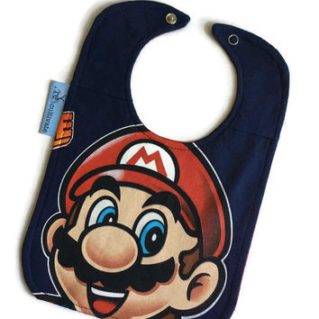 Mario Bib Baby Shower Gift Gamer Baby