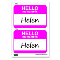 Helen Hello My Name Is - Sheet of 2 Stickers