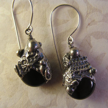 Timeless Relics Collection one-of-a-kind Earrings - Black