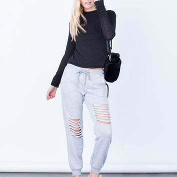 Comfy Ripped Joggers