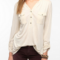Ecote Cargo-Pocket Pullover Top