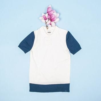 bwgh x puma color block knit polo pristine  number 1