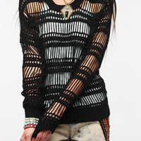 byCORPUS Vertical Net Mesh Sweater