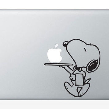 Snoopy mac sticker mac macbook decal mac decal by AppleParadise
