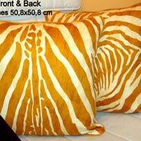 Tiger velvet piping 20x20 Pillow Cover – Animal print decor