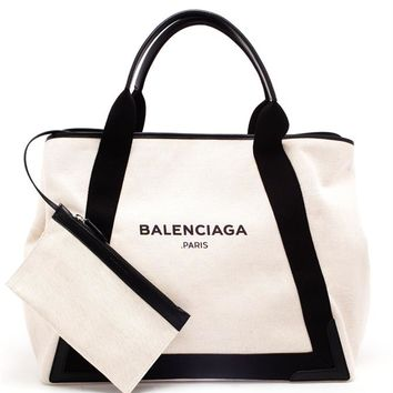 Large Canvas Logo Tote - BALENCIAGA