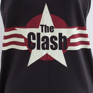 The Clash Joe Strummer Mick Jones Paul Simonon Terry Sleeveless Vest Tank Top Tunic Women Mini Dress T-Shirt Size M