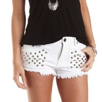Studded Cut-Off Denim Shorts by Charlotte Russe