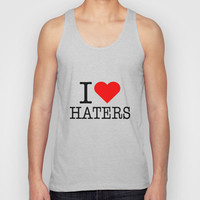 I heart Haters Unisex Tank Top by RexLambo