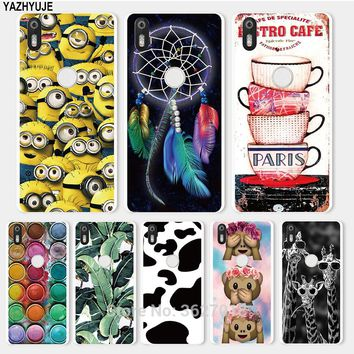 YAZHYUJE For BQ Aquaris X Cases Minions Color Paintbox Patterned Soft TPU Back Cover For BQ Aquaris X pro Silicone Phone Cases