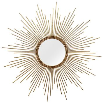 Veracruz Gold Burst Wall Mirror