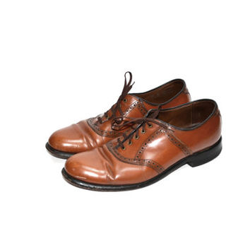 Wingtip Shoes Brown Wingtip Shoes Brown Oxford Shoes Keith Highlanders Shoes Lace Up Oxfords Brogues Size 10
