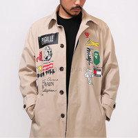 XQUARE 23 Multi Brand Logo Print Trench Coat