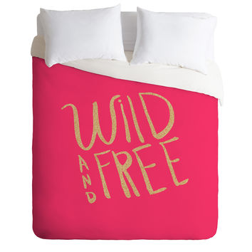 Allyson Johnson Wild and free glitter Duvet Cover