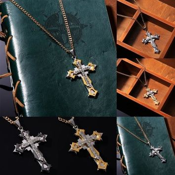 Cross Pendant Link Chain Necklace For Women