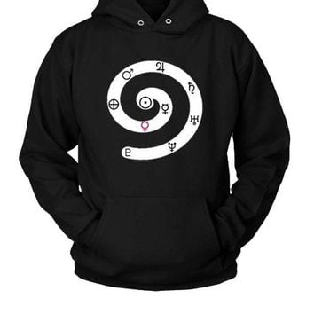 ESBP7V Solar System Symbols Of Planets Hoodie Two Sided