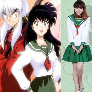 Anime Inuyasha Higurashi Kagome Cosplay Costumes Girls School Uniform Women Sailor Suits | Best Deal Online