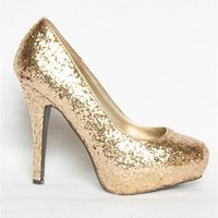 Glitzy Glittered Heel - Gold from Oppo at Lucky 21 Lucky 21