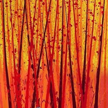 Mixed Media Float Painting (Lithograph & Acrylic) by Dale Chihuly