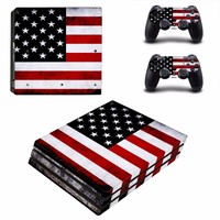 American Flag Vinyl Decal PS4 Pro Skin Stickers for Sony PlayStation 4 Pro