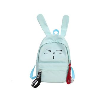 University College Backpack 2018 Famous design cute rabbit Zipper opening  preppy  style fashion double shoulder bags simple canvas AT_63_4