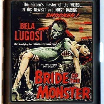 Ed Wood Cigarette Case Bride of the Monster B-Movie Exploitation Bad Movies Grindhouse Trash ID Business Card Credit Card Holder Wallet