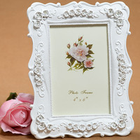 6 Inch White Fashion Vintage Swing Sets Resin Picture Frame Rustic Photo Wedding Photo Frame