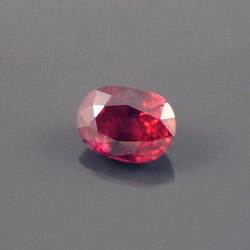 Ruby: 1.13ct Red Oval Shape Gemstone, Natural Hand Made Faceted Gem, Loose Precious Corundum Mineral, OOAK Cut Crystal Jewelry Supply 20245