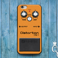 iPhone 4 4s 5 5s 5c 6 6s plus iPod Touch 4th 5th 6th Generation Cute Rock n Roll Orange Music Band Distortion Pedal Guitar Case Cool Cover
