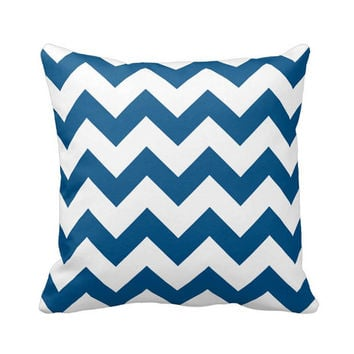 Decorative Throw Pillows, Chevron, Navy Blue Pillow, Pillow Cover, Couch Cushions, Living Room, Sofa Pillows, Accent Pillow, Bedroom Decor