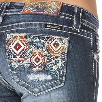 Miss Me Aztec Multicolored Straight Leg Jeans