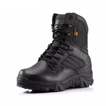 Winter Army Men's Military Outdoor Desert Combat Tactic Mid-calf Boots Men Snow Tactic