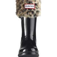 Kids Leopard Cuff Welly Socks | Rain Boot Socks | Hunter Boots