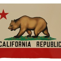 California Republic Bear Flag Vintage Metal Sign