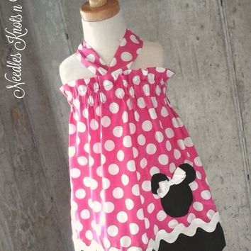 Girls Minnie Mouse Dress, Girls Minnie Mouse Birthday Dress, Girls First Birthday Dress, Disney Vacation, Tiip