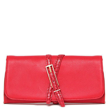 Isaac Mizrahi New York Trudy Leather Clutch
