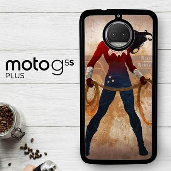 Wonder Woman Silhouette Y0546  Motorola Moto G5S Plus Case