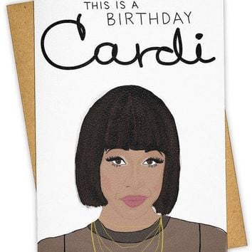 This is a Birthday Cardi Card