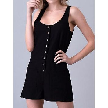 Hold Still Romper | Black