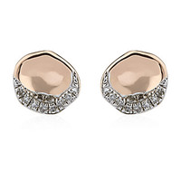 Monica Vinader Riva Diamond Shore Stud Earrings