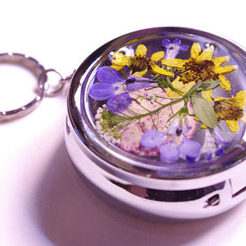 Pressed Flower Portable Ashtray - 2 in (5 cm)
