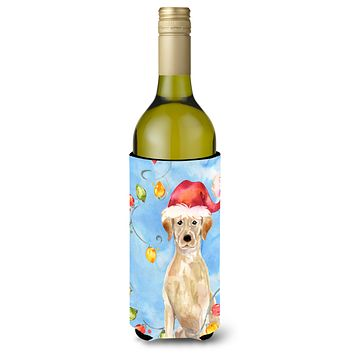 Christmas Lights Yellow Labrador Retriever Wine Bottle Beverage Insulator Hugger CK2507LITERK