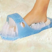 Easy Feet Foot Cleaner Easyfeet Foot Scrubber Brush Massager Clean Bathroom Shower Clean Blue Slippers Spa Treatment
