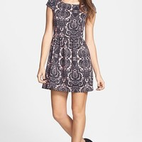 Socialite Print Skater Dress (Juniors) | Nordstrom