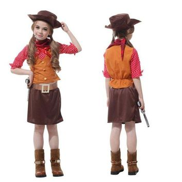 DCCKH6B Girls Kids Cowboy Cosplay Movie Masquerade Fantasia Disfraces Children Christmas Gift Carnival Party Costumes Fancy dress